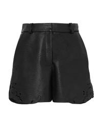 Pantalones cortos de cuero negros de Stella McCartney