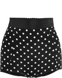 Pantalones cortos de encaje a lunares negros de Dolce & Gabbana