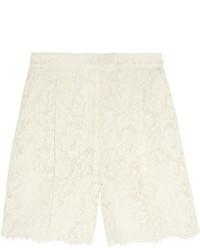 Pantalones cortos de encaje blancos de Valentino