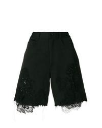 Pantalones cortos de encaje con adornos negros de Almaz