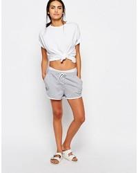 Pantalones cortos de encaje grises de Missguided