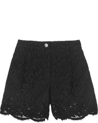 Pantalones cortos de encaje negros
