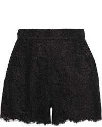 Pantalones cortos de encaje negros de Dolce & Gabbana