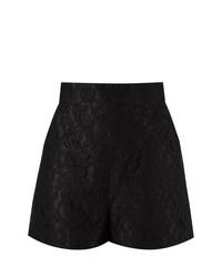 Pantalones cortos de encaje negros de Martha Medeiros