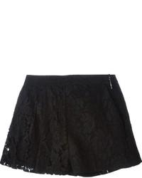 Pantalones cortos de encaje negros de MSGM