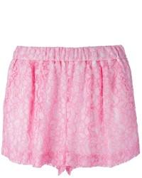Pantalones cortos de encaje rosados