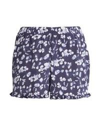 Pantalones Cortos de Flores Azul Marino de Vero Moda