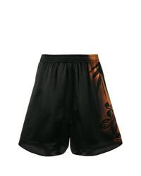 Pantalones Cortos de Flores Negros de Maison Margiela