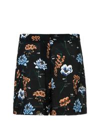Pantalones Cortos de Flores Negros de Markus Lupfer