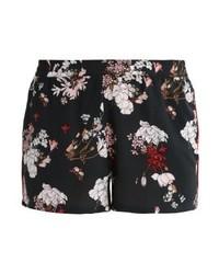 Pantalones Cortos de Flores Negros de Only
