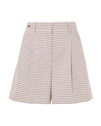 Pantalones cortos de lana a cuadros rosados de Fendi