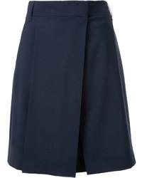 Pantalones cortos de lana azul marino de Jil Sander