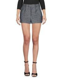 Pantalones cortos de lana de espiguilla grises
