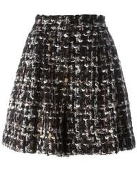 Pantalones Cortos de Lana en Marrón Oscuro de Dolce & Gabbana