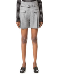 Pantalones cortos de lana grises de Diane von Furstenberg