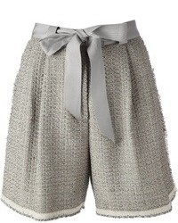 Pantalones Cortos de Lana Grises de Lanvin