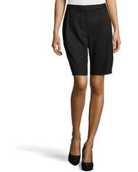 Pantalones cortos de lana negros