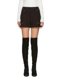 Pantalones cortos de lana negros de 3.1 Phillip Lim