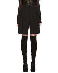 Pantalones Cortos de Lana Negros de Givenchy