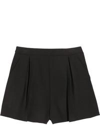 Pantalones cortos de lana negros de Miu Miu