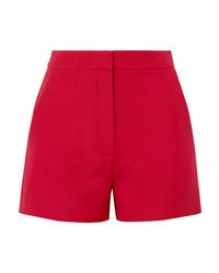 Pantalones cortos de lana rojos de Valentino