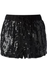Pantalones cortos de lentejuelas negros de P.A.R.O.S.H.
