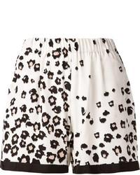 Pantalones Cortos de Leopardo Blancos y Negros de Sea
