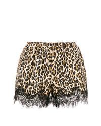 Pantalones Cortos de Leopardo Marrón Claro de Gold Hawk