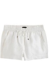 Pantalones cortos de lino blancos