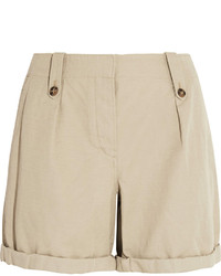 Pantalones cortos de lino en beige de Burberry