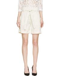 Pantalones cortos de lino en beige de Etoile Isabel Marant