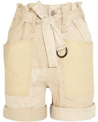 Pantalones cortos de lino en beige de Isabel Marant