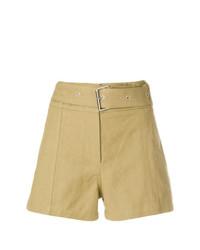 Pantalones cortos de lino marrón claro de IRO