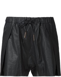 Pantalones cortos de lino negros de Boris Bidjan Saberi