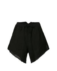 Pantalones cortos de lino negros de Lost & Found Rooms
