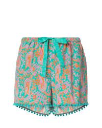 Pantalones cortos de paisley en multicolor de Figue