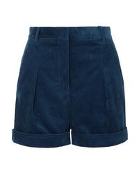 Pantalones cortos de pana azul marino de Stella McCartney