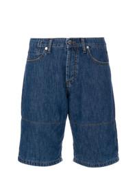 Pantalones cortos de rayas horizontales azul marino de Marni