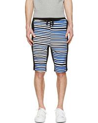 Pantalones Cortos de Rayas Horizontales Blancos y Azul Marino de Markus Lupfer