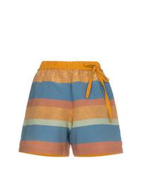 Pantalones cortos de rayas horizontales en multicolor de A Peace Treaty