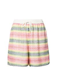 Pantalones cortos de rayas horizontales en multicolor de Ashish