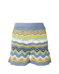 Pantalones cortos de rayas horizontales en multicolor de M Missoni