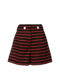 Pantalones cortos de rayas horizontales negros de Proenza Schouler