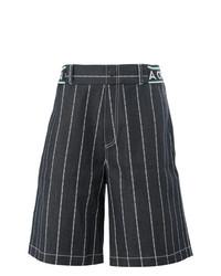 Pantalones Cortos de Rayas Verticales Azul Marino de Andrea Crews