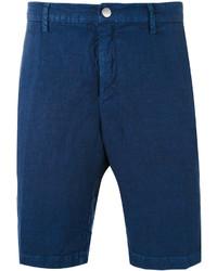 Pantalones cortos de rayas verticales azul marino de Massimo Alba