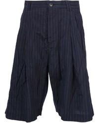 Pantalones Cortos de Rayas Verticales Azul Marino de Song For The Mute