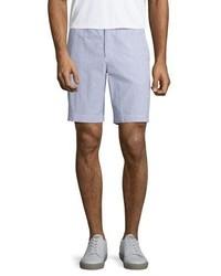 Pantalones cortos de rayas verticales azules