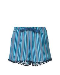 Pantalones cortos de rayas verticales azules de Figue