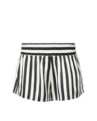 Pantalones Cortos de Rayas Verticales Blancos y Negros de Morgan Lane
