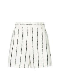 Pantalones Cortos de Rayas Verticales Blancos y Negros de MSGM